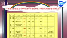 本校學生參加臺北市103年度中等學校學生科學研究獎助計畫得獎名冊